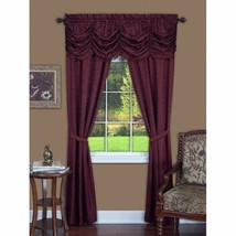 5 pc Window Set Burgundy Red Curtains Panels Drapes Pair Valance 84 63 i... - $30.59+