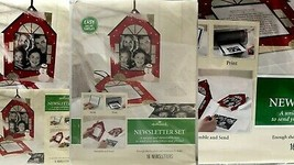 Hallmark Computer Holiday House Newsletter Kit Space for Xmas Photo 1 Pa... - $7.35
