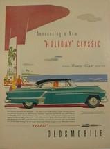 1952 Oldsmobile NINETY-EIGHT Holiday Coupe BEACH Scene ROCKET Print Ad - $9.99