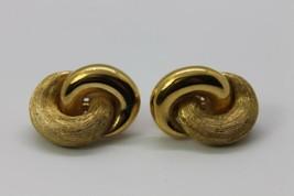 Vintage Christian Dior Earrings Chr Designer Clip On Modernist Infinity ... - $75.00