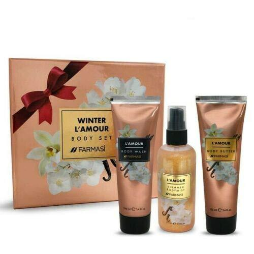 Primary image for Winter L'amour Body Set Farmasi Body Mist Body Butter Wash