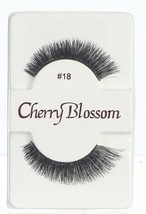 CHERRY BLOSSOM EYELASHES MODEL# 18 -100% HUMAN HAIR BLACK 1 PAIR PER PACK - $1.48+