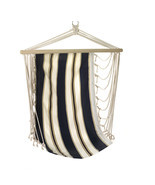 Portable Hammock, Cotton Navy Blue Striped Kids Hanging Chair For Sleeping - £33.87 GBP