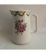 Haviland Limoges Creamer Pink Roses Green Leaf Gold Swirl Hotel Meurice ... - $38.00