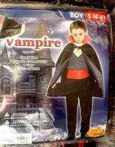 Vampire Halloween Costume Boys Size Small 4-6 Count Dracula - $13.46