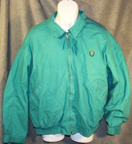 Primary image for Mens RALPH LAUREN CHAPS Green Khaki WINDBREAKER JACKET Size Large