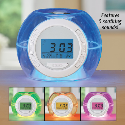 Primary image for Color Changing Alarm Clock with Nature Sounds