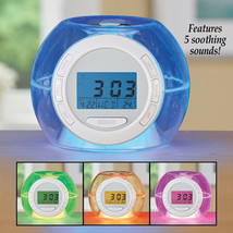Color Changing Alarm Clock with Nature Sounds - $12.25