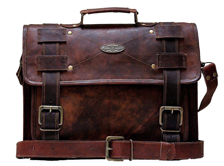 Handmade_World Men's Leather Messenger Bag Laptop Computer Handmade Bag image 2