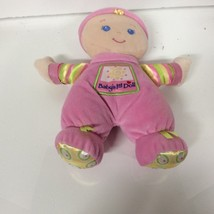 Fisher Price Baby's 1st Doll Pink Green Plush Rattle Girl Stuffed Animal... - $7.08