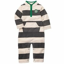 Boys Carters Fleece Jumpsuit Coverall Onepiece 3M Stripes NWT Bananas ov... - $6.64