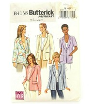 Butterick B4138 Sewing Pattern Fast & Easy 2 Hour Petite Jacket 14 - 18 ... - $12.19