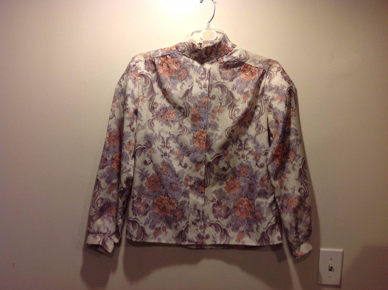 Cape Cod Sportswear Regal Floral Pullover Blouse Sz 16