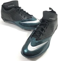 Nike Football Cleats Men Superbad Pro Lunarlon Green Black 544762-024 Adult 18 - $34.98