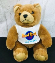 Hard Rock Cafe Las Vegas Brown TEDDY BEAR  Plush Toy Wearing Logo T-Shir... - $13.46