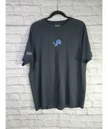 NFL Shirt Size L Mens Black Detroit Lions Crew Neck Short Sleeve T Shirt - $19.78