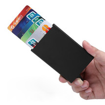 IPRee RFID Automatic Pop Up Card Holder Aluminum Alloy Credit Card Case ... - $10.99