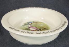 Royal Doulton Childs 2 Handled Cup & Bowl Beatrix Potter Jemima Puddleduck image 3