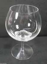 Sasaki Crystal PRINTEMPS Clear Brandy Glass (s) Frosted Flower in Bowl - $35.99