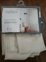 Threshold Natural Sheer Linen Curtain Panel Rod Pocket 84x54  NEW - $18.75