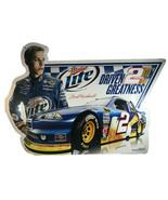 "Genuine Miller Lite NASCAR Brad Keselowski Metal Sign 24"" Wide x 17"" Tall - $59.35"