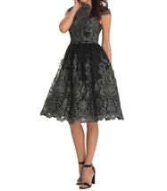 Women Off Shoulder Cap Sleeve Midi Dress Formal Party Dress-blue,black,champagne image 6