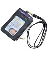 Yeeasy ID Badge Holder with Neck Lanyard PU Leather ID Badge Wallet Case... - $8.18