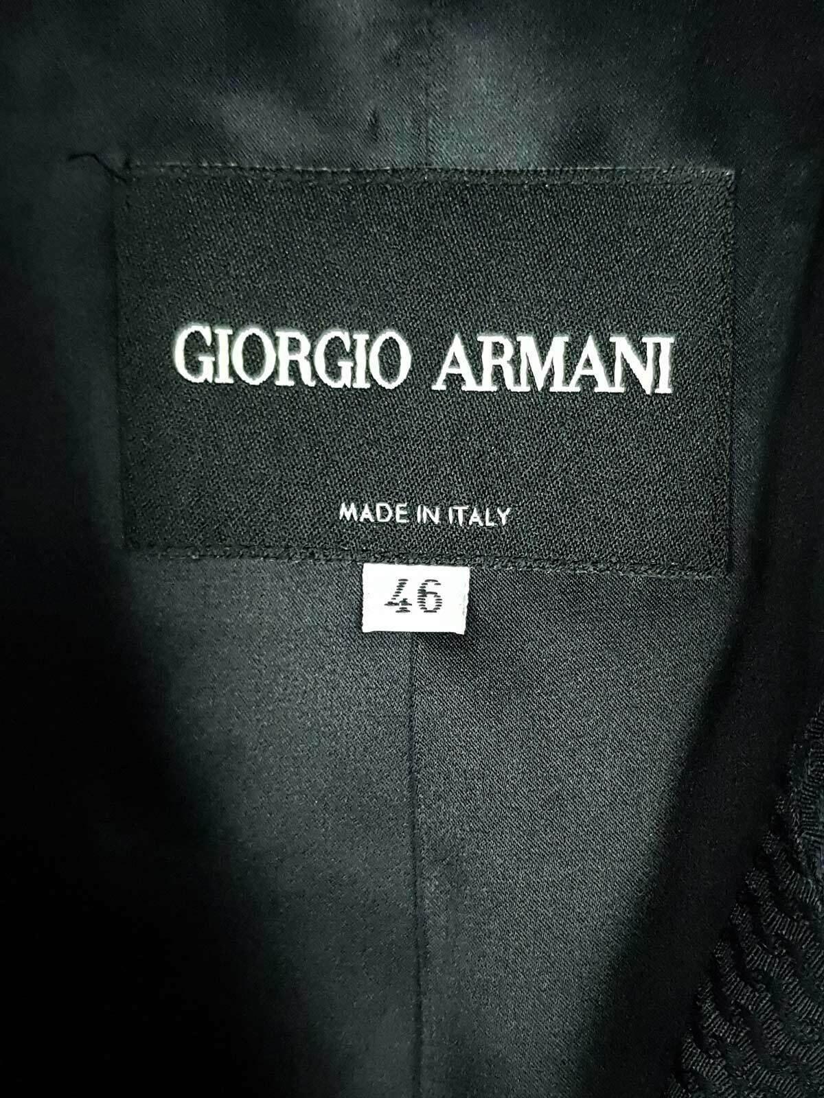 Giorgio Armani Mélange de Soie Veste Boutonnière Simple