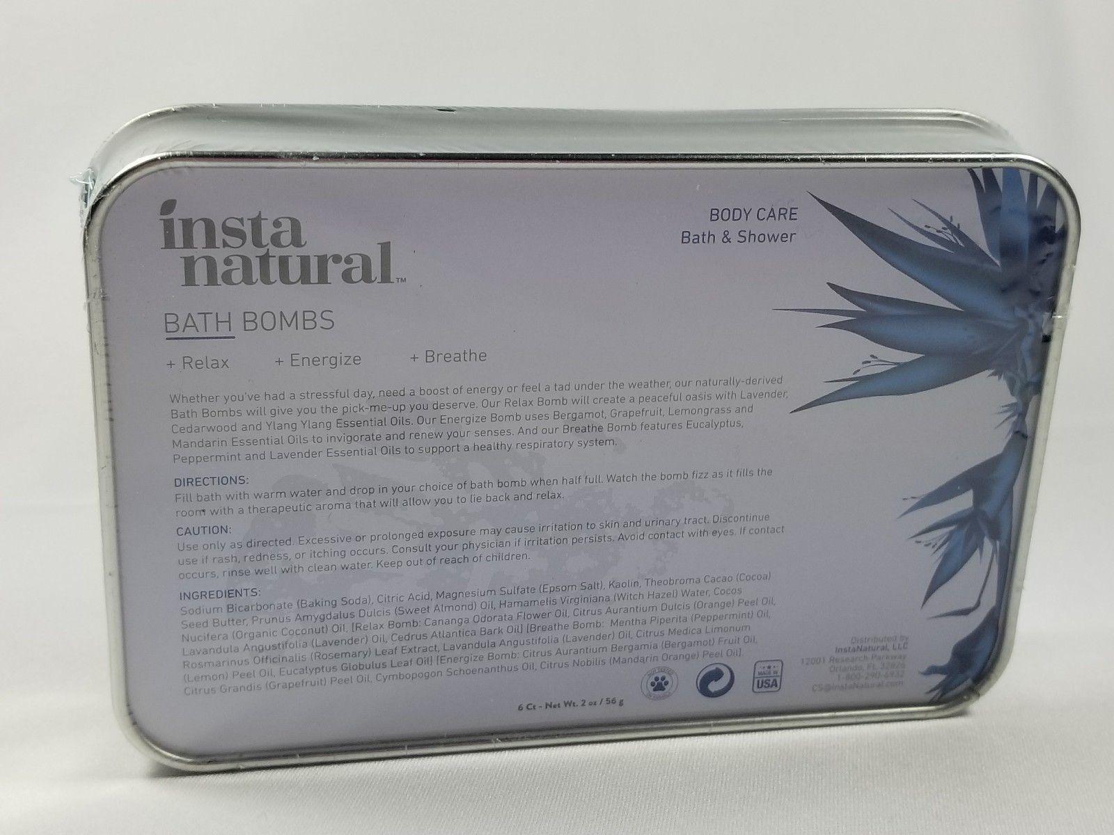 6 insta natural bath blocks  in metal tin