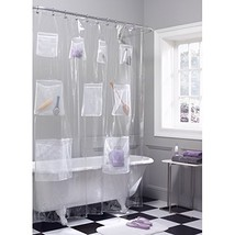 Maytex Quick Dry Mesh Pockets Waterproof PEVA Shower Curtain or Liner, Bath / Sh - $16.61