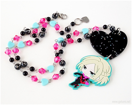 Yuri Plisetsky Rubber Mascot Handmade Necklace, Anime Jewelry, Japan - $40.00