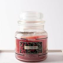 Yankee Candle Retired Black Band HOLLYBERRY 14.5 oz 75% full Jar Candle - $24.74