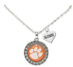 Custom Clemson Tigers Silver Necklace Jewelry Choose Alumni or Family Ch... - $16.14