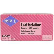 Gelatin Leaf Sheets - Bronze - 1 box - 300 sheets - $63.79