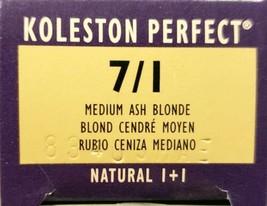 Wella Koleston Creme Haircolor 1+1 7/1 Medium Ash Blonde - $9.49
