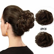 Abujia Messy Bun Hair Piece Hair Bun Extension Wavy Curly Messy Donut Hair Updo  image 1