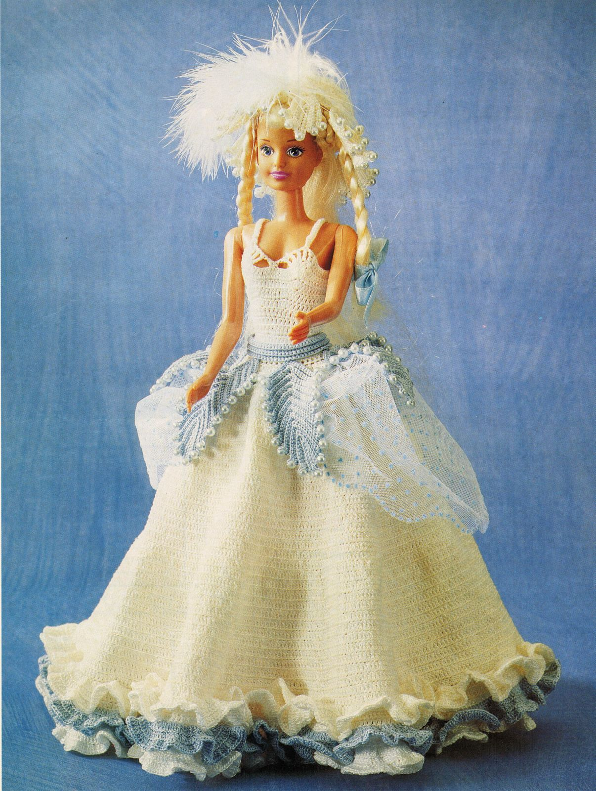 Barbie Clothes English Princess Lucy Dress Hat Bag Bracelet CROCHET Pattern image 1
