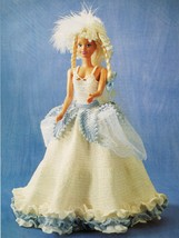 Barbie Clothes English Princess Lucy Dress Hat Bag Bracelet CROCHET Pattern - $6.99