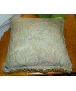 Off White Tassle Fringed Decorative Throw Pillow  19 x 19 - $39.95