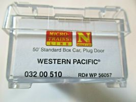 Micro-Trains # 03200510 Western Pacific 50' Standard Boxcar Plug Door N-Scale image 5