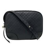 NEW Gucci Black Leather Micro GG Guccissima Bree Crossbody Shoulder Bag ... - $810.63