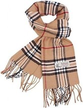 Plaid Cashmere Feel Classic Soft Luxurious Winter Scarf For Men Women (C... - $25.36