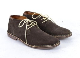 Kenneth Cole Reaction Brown Suede Leather Chukka Low Ankle Boots Mens Si... - $29.69