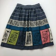 Anthropologie Edme & Esyllte Skirt 0 Pinochle Playing Cards Skirt Flare ... - $19.28