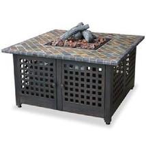 "Uniflame Lp Firepit Mosaic Slate Top Outdoor 41"" 40,000 btu Propane Pati... - $636.95"