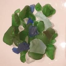 Sea Glass, Decorative Accent Gems, Green Blue White Stones, 11oz bag