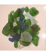 Sea Glass, Decorative Accent Gems, Green Blue White Stones, 11oz bag - £7.23 GBP