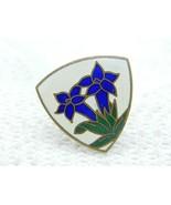 VTG A. AUGIS LYON French France Iris Enamel Cloisonne Pin Brooch - $99.00