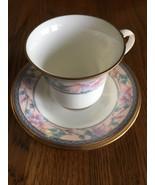 Noritake Embassy Suites 9756 Cup and Saucer Set Lot Gold Pink Purple Bon... - $9.89