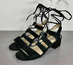 Steve Madden 'Kitty' Ghillie Sandal, Black Suede, Womens Various Sizes - $23.99